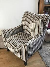 Stripe accent chair