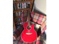 Takamine G-Series Electro Acoustic Guitar (Model: EG440C) in Red
