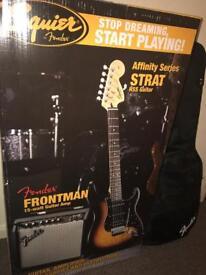 Reduced!!! Squier affinity series strat guitar starter kit