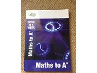 """Maths to A*"" GCSE revision"