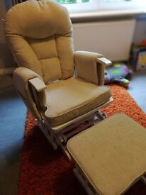 Nursing Chair with Footstool