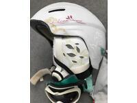 Salomon Icon Custom Air Ski Helmet S/M and goggles