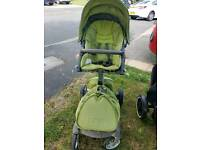 Stokke Xplory Green with accessories