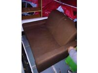 BROWN SOFA BED 2 IN 1 SPACE SAVING NICE AND STRONG,COLLECTION E15 3HB
