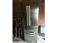 Silver hotpoint quadro american fridge freezer