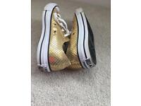 Converse All Star Gold Trainers