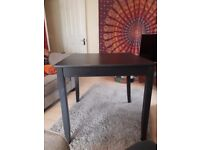 Black Ikea table 74x74cm (up to 4 people)