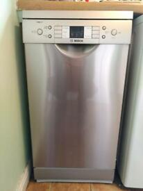 Bosch SPS53M08GB Freestanding Dishwasher, Silver Innox