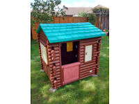 LITTLE TIKES LOG CABIN PLAYHOUSE CHILD SUMMER FUN OUTDOOR PLAY HOUSE