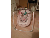 baby to toddler musical self propelled swing