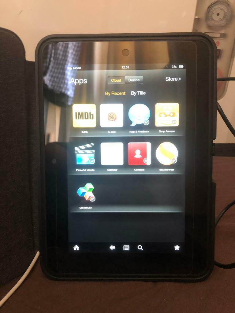 Amazon Kindle 7 with its original leather cover | in Grays, Essex | Gumtree