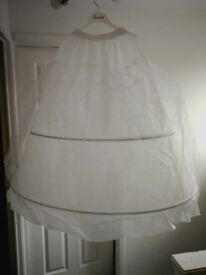 Ivory Dress Hoop Double Large Netted