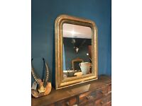 Antique French Louis Philippe Gold Framed Mirror