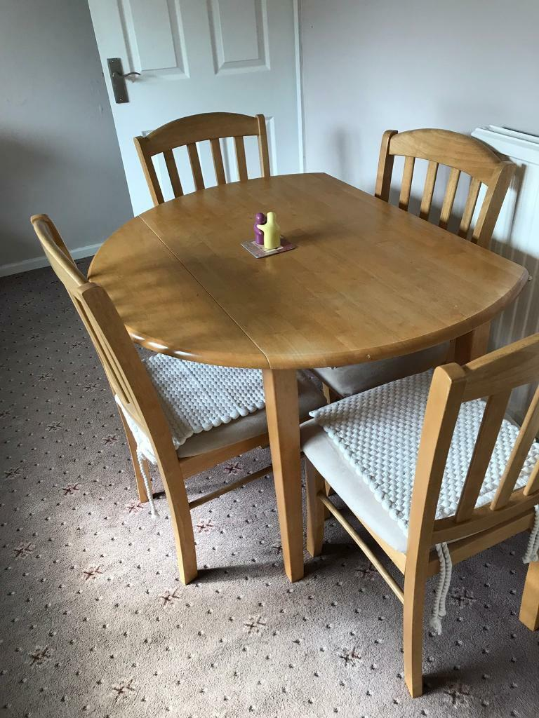 Folding Table And 4 Chairs In Glossop Derbyshire Gumtree