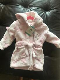 Disney super soft baby dressing gown