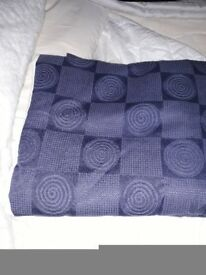 Navy Blue fully lined pencil pleat curtains