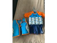 Swimming costume and buoyant vest