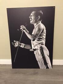 Freddy Mercury wall art good quality print on 5 mm foamex board