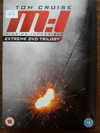 Tom Cruise Mission Impossible - Extreme Trilogy DVD Box Set - Very Good Condition