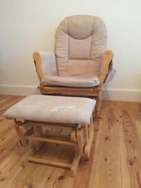 Rocking Nursing chair with rocking foot stool.