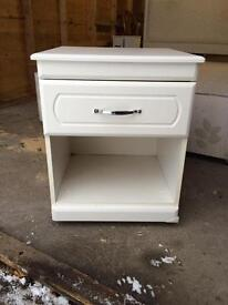 2 x White Bedside cabinets with drawers