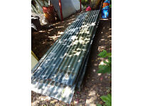 38 used Galvanised roof sheets for collection