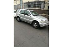 Ml Mercedes jeep 4/4 diesel engine automatic gear transmission auto gear cheap urgent sale quick sal