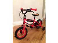 Boys 12 inch Disney Cars Bike with Stabilisers