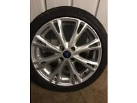 "Fiesta ZETEC S alloy wheel/fiesta alloy wheel/17"" good tyre"