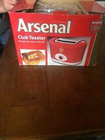 Arsenal club toaster still in box