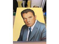 Richard Burton oil on canvas exclusive by Terence Vickress