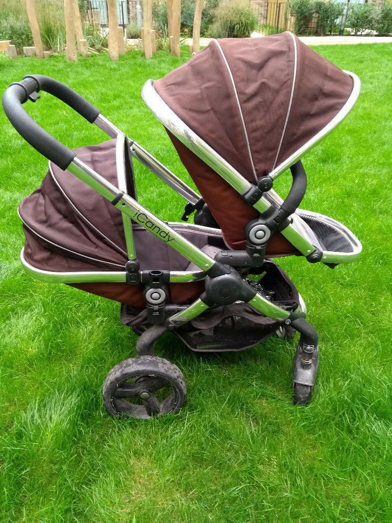 04bc06be9531 iCandy Peach Blossom double pram (blackjack brown)