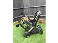 Oyster 2 buggy stroller with buggy board Grey