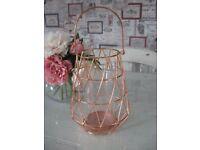 COPPER WIRE HURRICANE STYLE LAMP