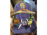 Fisher Price 'link a doo' vibrating baby bouncer/chair suitable from birth