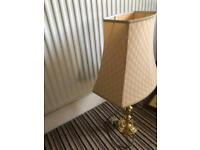 Unusual Vintage Brass Table Lamp Graduated Ball Design Height to top of Shade 26in/66cm R100