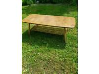 Ercol blonde coffee table