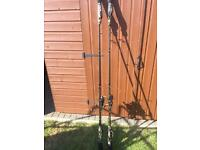 Twin set of NGT Carp or Pike fishing rods