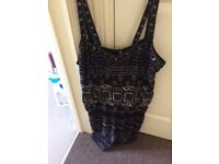River island play suit size 14