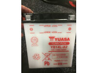 BRAND NEW YB14L-A2 14L-A2 battery 12 volt motorcycle rechargeable BATTERY