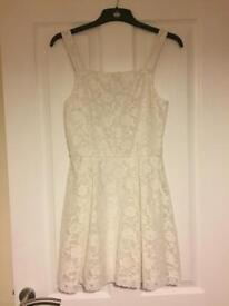 White topshop lace dress