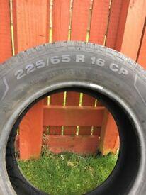 Continental vanco camper tyre 225/65/R16CP good condition 9mm tread