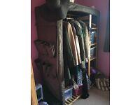 Charcoal brown storage unit / wardrobe