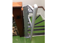 lift ThyssenKrupp Inclined Platform Curved Wheelchair Stair Lift disable access