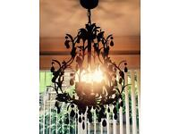 Black chandelier light fitting