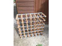 36 bottle wine bottle rack wood metal