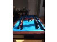 Mahogany slate pool table