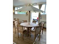Teak Ascot 150cm Round Table Set With Stacking Chairs