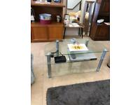 """Clear glass 42"""" tv stand"""