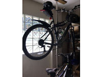 Dual bike storage pole - takes 2 adult bicycles, excellent condition